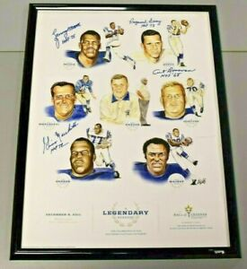 4 Signature Baltimore Colts Hall Of Famers Poster 19x25 Inches Framed BC2227