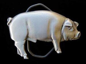 NEAT LITTLE 3D PIG BELT BUCKLE NEW!