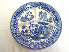 """Vintage Blue Willow Plate 10"""" Sectional Made in Occupied Japan"""