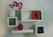 Set Of 4 Retro Floating Cube Shelving Storage Unit Display Rack Bookcase Shelf