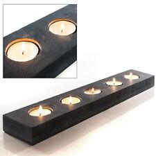 PTMD Design Teelichthalter aus Schiefer,Kerzentablett,Kerzenhalter,Tischläufer
