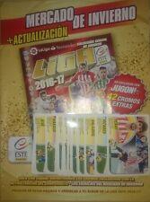Album Mercado Invierno Update + 42 Stickers Nuevos Fichajes Liga Este 2016 2017