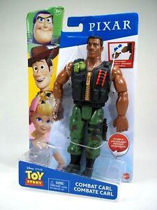 "Rare Toy Story 9"" Combat Carl Action Figure Disney Pixar Character Mattel HTF"