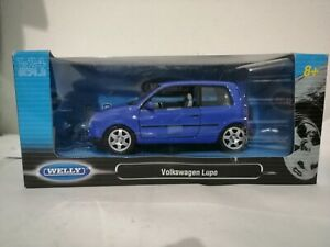 Volkswagen Lupo violet blue vw 1/24 1 24 WELLY MIB diecast model toy car 2