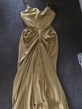SHONAJOY Size 8 Gold Maxi Dress with Front Split New Without Tags RRP$280