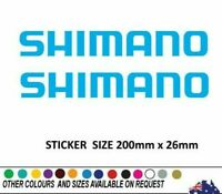 2 X SHIMANO Fishing Sticker Decal 200mm wide popular Boat Ute