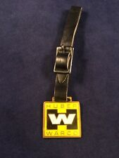 Huber-Warco Logo Pocket Watch Fob Hw Brass & Enamel Marion Oh