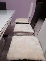 Authentic Sheepskin Cushion Fur Chair Seat Pad Car Seat Wool Rug Dog Cat Bed