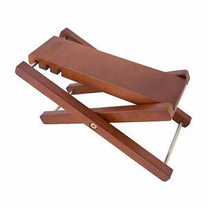 NEW Fretz Woodie Adjustable Footstool for Guitar, Bass, Kids, Beginner Foot Rest