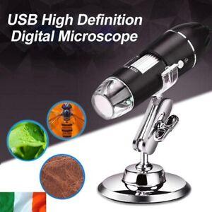 USB Microscope 1000X Zoom 8 LED Digital Magnifier Endoscope Camera Video