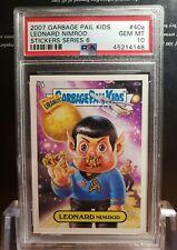 2007 Garbage Pail Kids ANS 6 PSA 10 GEM Mint 40a Leonard Nimrod Star Trek POP 2