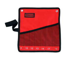 Canvas Tool Roll Pouch Wider Grid Higher for Ratchet Spanner Display & Storage