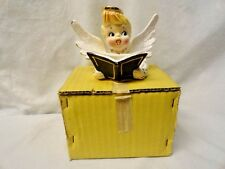 Vtg Original Holt Howard Angel Christmas Caroler Halo Song Book Candle Holder
