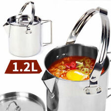Outdoor Picnic Camping Hanging Pot Cookware Campfire Cooking Stainless Steel cup