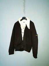 Large Vintage Stone island black Dutch rope president knit jacket marina ice