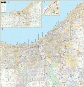 Cleveland & Cuyahoga Co, OH Wall Map