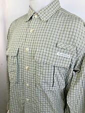 EXOFFICIO - Mens Medium Green/Black/White Outdoor Fishing Shirt