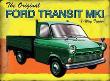 Ford Transit Mk1 Pickup Van, Classic Garage Mark 1 Tipper, Medium Metal/Tin Sign