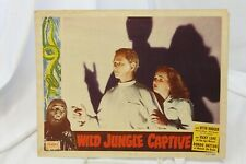 "Wild Jungle Captive Re-released Original Movie Lobby Card 11"" x 14"" 1952"