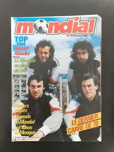 Magazine Football MONDIAL N°74 FRANCE SPECIAL MUNDIAL MEXICO 86 avec poster