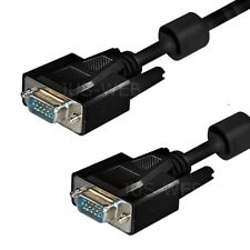 15m S-VGA Monitorkabel Monitor Kabel SUB-D Stecker Ferrit Beamer Pc Tv