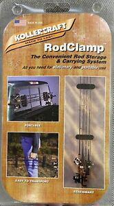 Kollercraft Fishing Pole Rod Rack 'n Go Storage Carry System, Clamps Bracket NEW