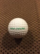 PING GOLF BALL-RED/WHITE PING EYE PERSONAL TEXT.MERRY CHRISTMAST-MARY ANN.9.8/10
