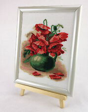 Poppies In The Basket - Counted Cross Stitch Kit with Color Symbolic Scheme b...