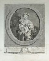 SOPHIE ARNOLD. GRAVURE ORIGINALE DE J. MASSARD. IMP. LAMOUREUX. PARIS XIXÈME S.