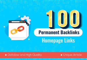 100 Backlinks High Quality Permanent HomePage Dofollow PBN Links