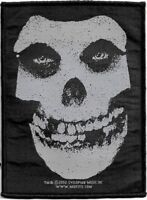 Official Licensed Merch Woven Sew-on PATCH Punk Rock MISFITS White Skull