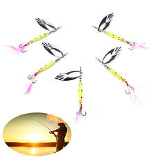 fishing catfish lures bass lures tackle spoon 360 rotation metal lure 10g Fad.