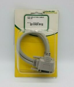 Cables Unlimited DVI-D Video Splitter 1 Male to 2 Female 6 Inches PCM-2260 – NEW
