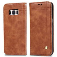 Oil Wax Leather Sheath Anti-scratch Phone Case For SAMSUNG Galaxy S8 & S8 Plus