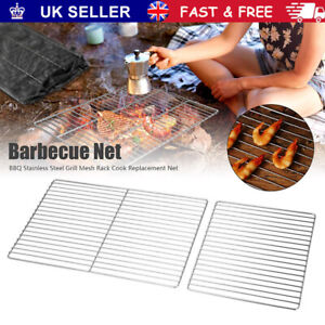 BBQ Grill Grate Grid Stainless Steel Wire Mesh Rack Replacement Barbecue Net New