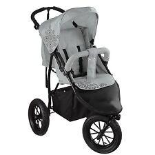 Knorr-Baby 3-rad Sportwagen Joggy s Hellgrau-schwarz