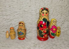 Matryoshka Nesting USSR Dolls Russian Vintage Wooden Soviet 2 Doll Painted Set
