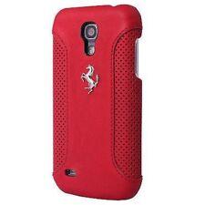 Ferrari Caso Original Duro Cover Case cuero Rojo para Galaxy S4