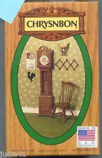 Miniature Dollhouse Chrysnbon Kit / Brown Grandfather Clock F100