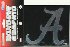 University of Alabama Window Graphic - Silver Chrome Vinyl Decal 4x5
