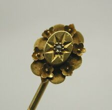 Antique 15ct Gold And Diamond Stick / Tie Pin