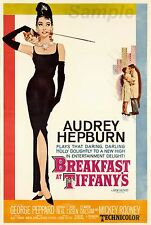 VINTAGE BREAKFAST AT TIFFANY'S MOVIE POSTER A3 PRINT