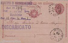 # TORREMAGGIORE: RISPOSTA CART. POSTALE C.7 1/2..DA MONTECALVO IRPINO