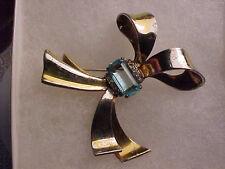 vintage crown trifari sterling silver bow pin brooch
