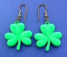 Russ Earrings St Patrick Shamrock Dangle Lucky Vtg Irish Holiday Jewelry