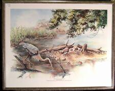 "Leonard Williams ""The Nature of Owr Wetlands"" LTD Hand S/N framed"
