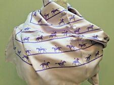 "Hermes Scarf  Paris France Purple Silk Twill Horse Equestrian  34"" Square"