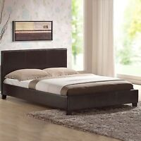 5ft 4ft6 OTTOMAN STORAGE STANDARD LEATHER BED BLACK BROWN WHITE MATTRESS OPTION