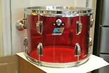 """1970's LUDWIG 14"""" CLASSIC RED VISTALITE TOM for YOUR DRUM SET! LOT #G265"""