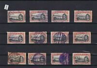 NIGERIA STOCK CARD OF 5 SHILLINGS  USED STAMPS  CAT £250  REF R 1763